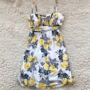 Speechless Yellow & White Floral Sun Dress